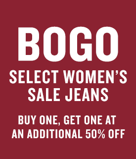 Denim Sale BOGO 50% Off Promotion Page Tile