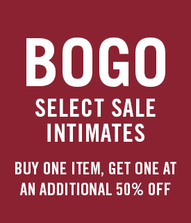 BOGO 50% Off Select Women's Intimates