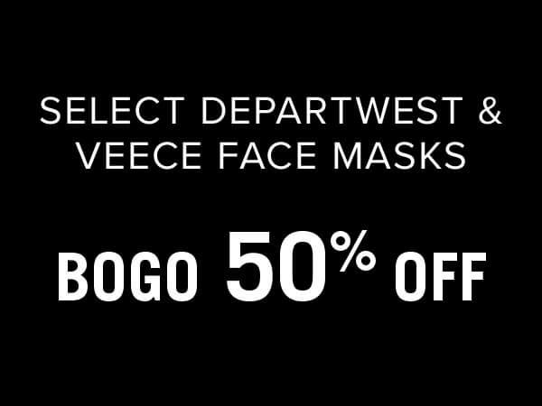 Select Departwest & Veece Face Masks - BOGO 50% Off