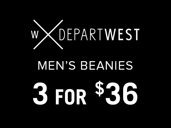 Departwest men's beanies 3 for $36