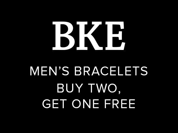 BKE men's bracelets but two, get one free