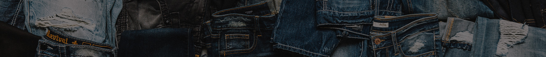 A variety of Men's and Women's Buckle denim