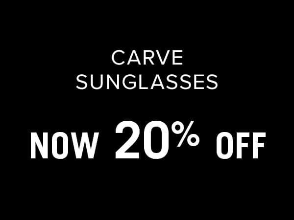 Carve Sunglasses 20% Off