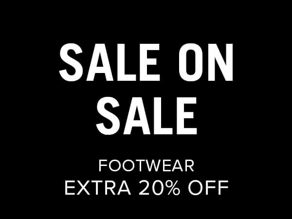 Sale on Sale Footwear Extra 20% Off