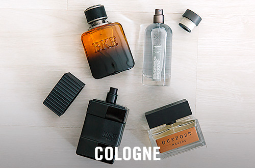 Four different types of Men's cologne