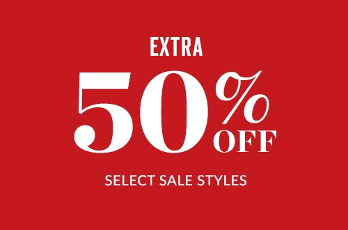 Shop Extra 50% Off Select Sale Styles