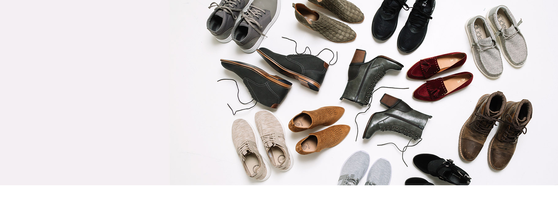 12 pairs of men's and women's shoes