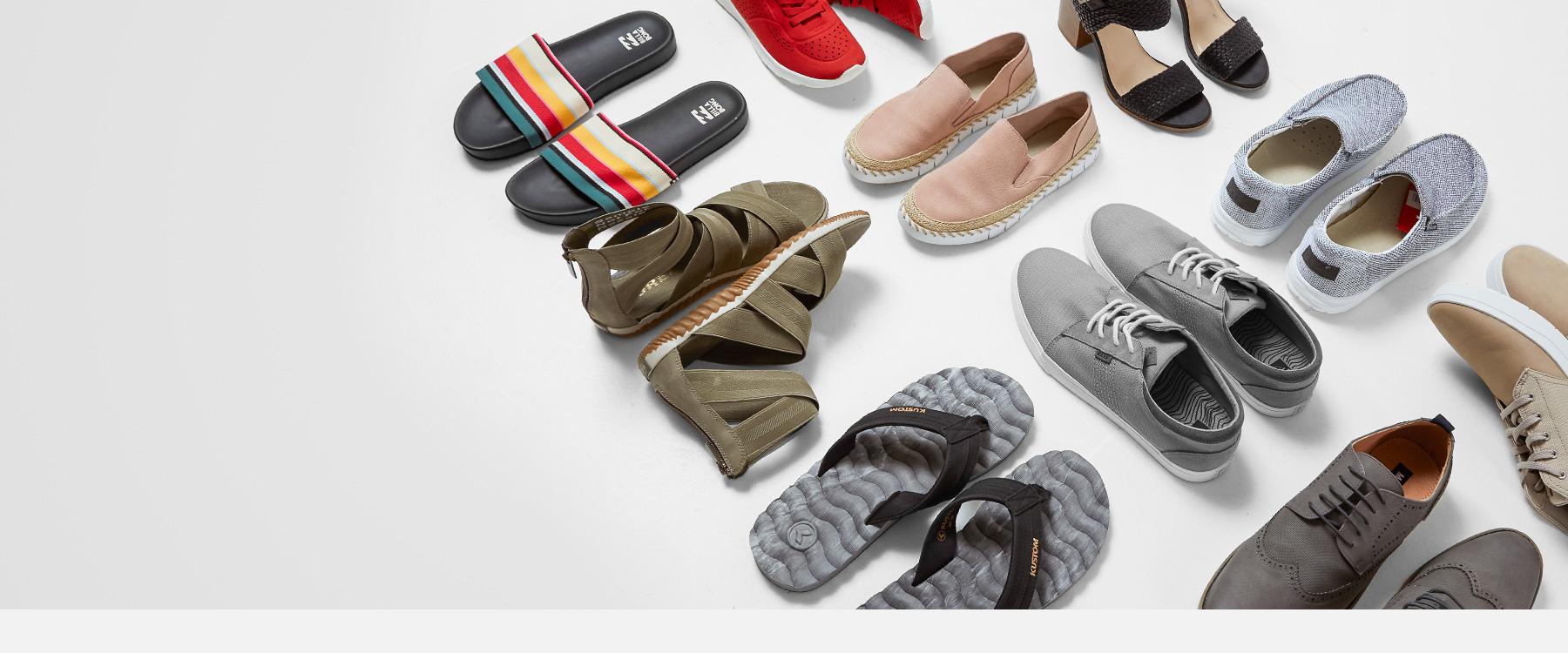 Ten pairs of men's and women's shoes