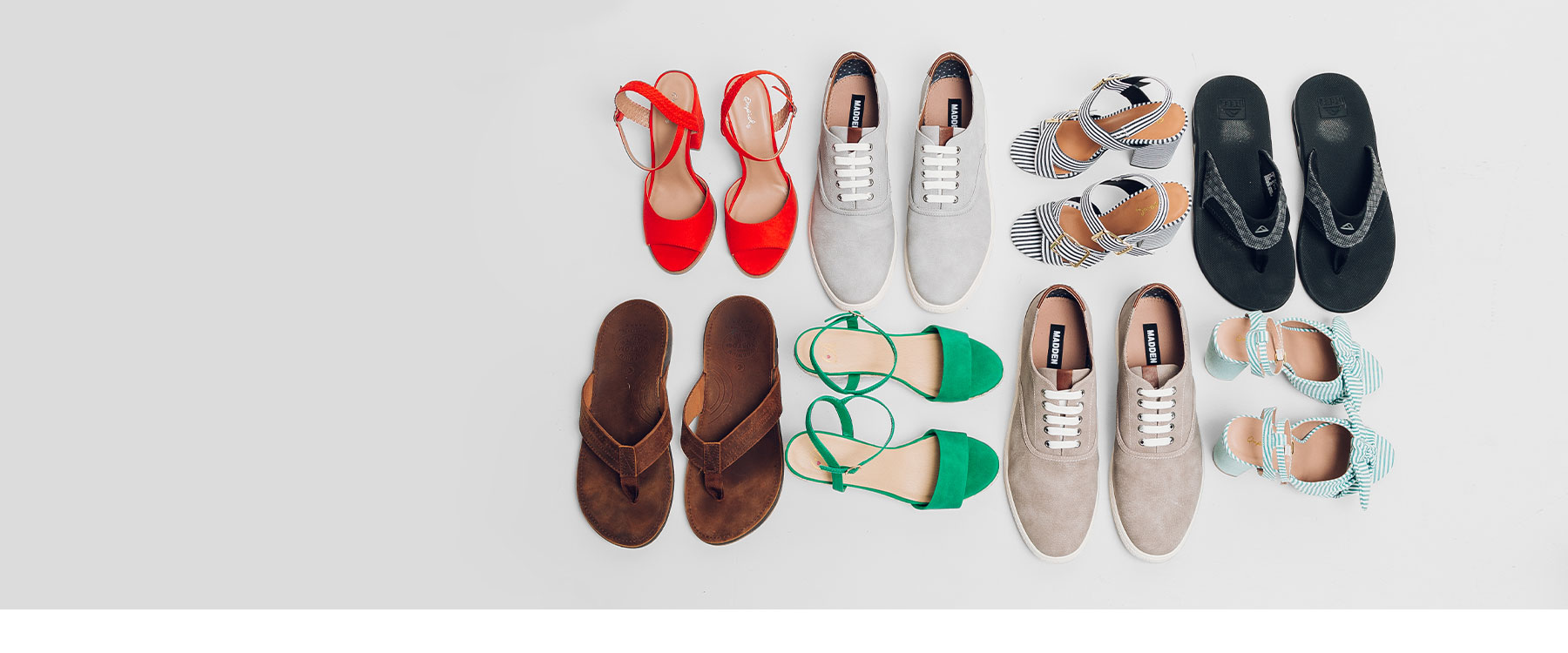Eight pairs of men's and women's shoes