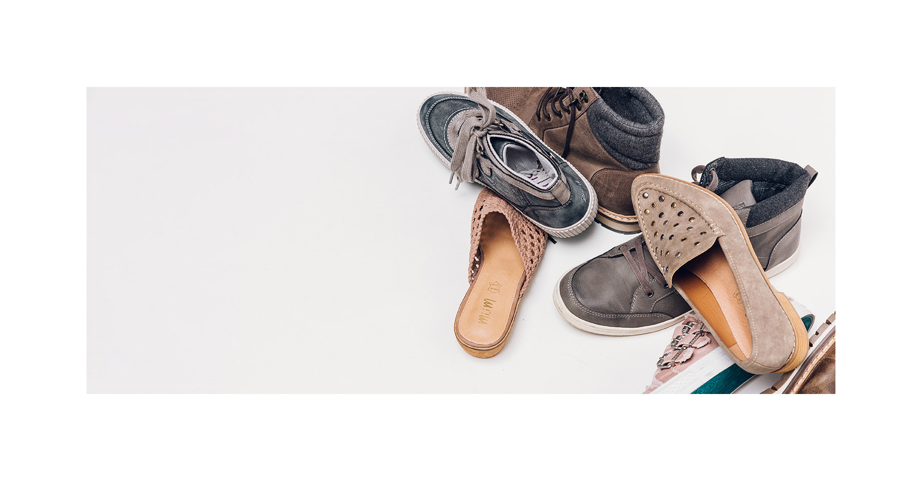 Assorted new styles of men's and women's shoes from Buckle.