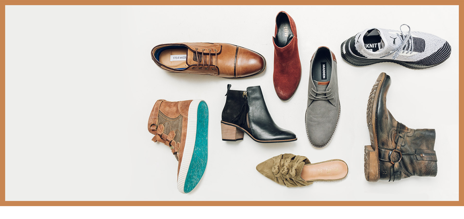 Different styles of fall shoes from Buckle.