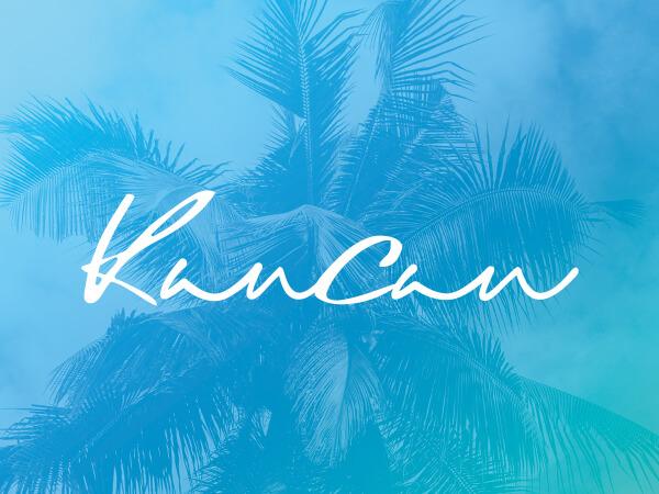 KanCan logo on bright blue decorative background.