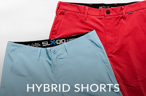 Two pairs of hybrid shorts