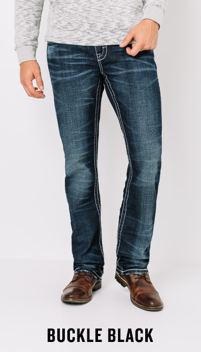 Shop Men's Buckle Black Denim