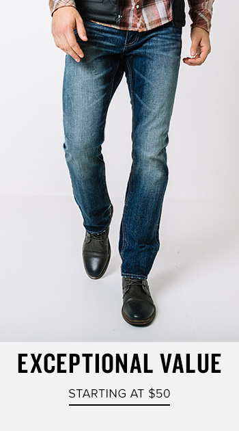 Exceptional Value - Starting at $50 - Shop Men's Denim