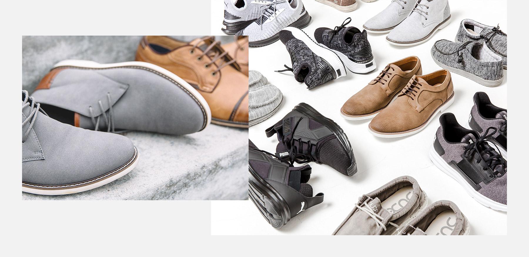 Nine pairs of men's shoes