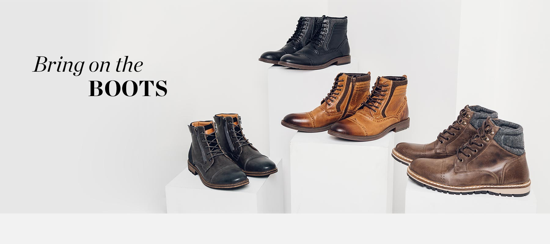 Bring on the Boots - Four pairs of men's boots - Shop Men's Shoes