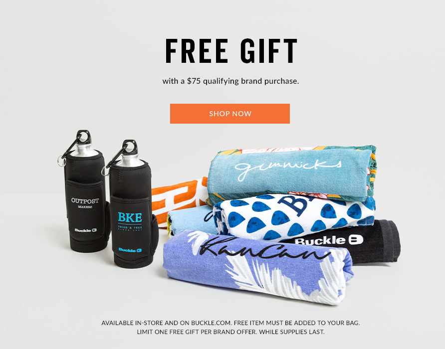 Free Gift with a $75 qualifying brand purchase.