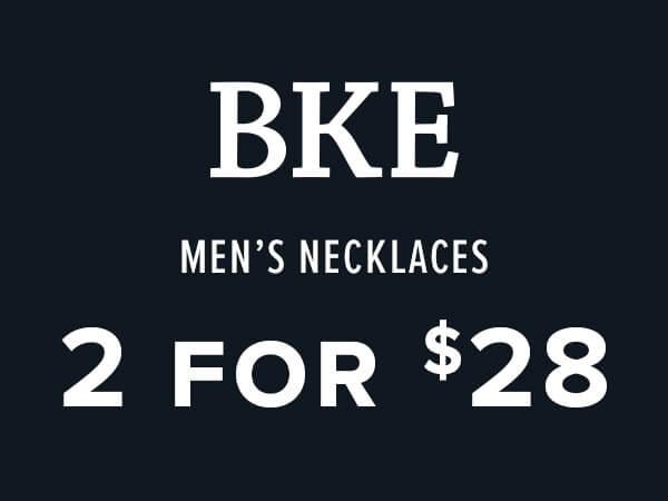 BKE Men's Necklaces 2 for $28