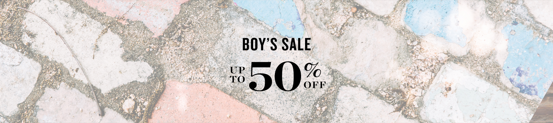 Boy's Sale up to 50% off
