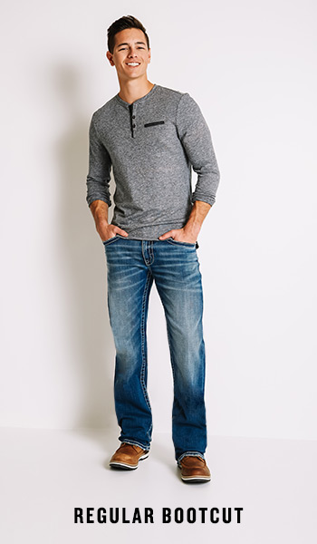 Men's Regular Bootcut Jeans