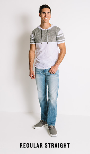 Men's Regular Straight Jeans