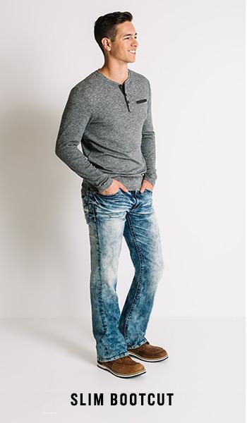 Men's Slim Bootcut Jeans