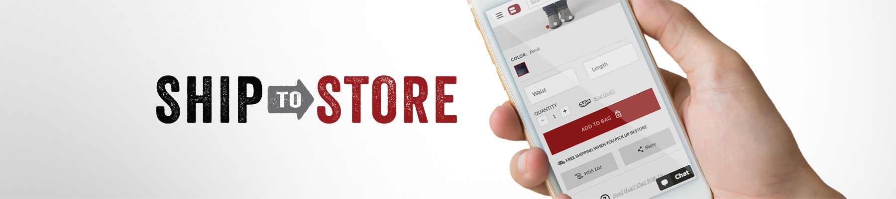Ship to Store - Header Banner