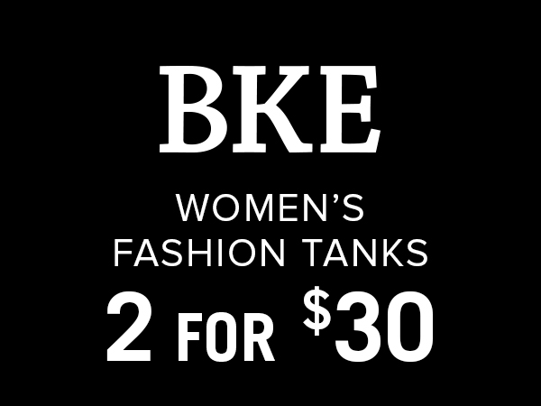 BKE women's fashion tanks 2 for $30