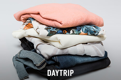 Daytrip sweaters, shirts and denim stacked up - Shop Daytrip