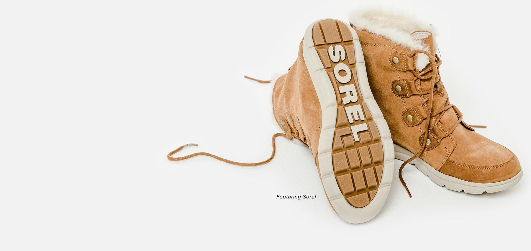 A pair of Women's Sorel boots