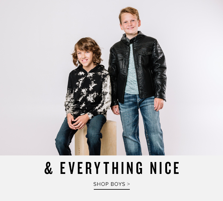 And Everything Nice - Shop Boy's Clothing - 2 boys wearing Buckle clothing