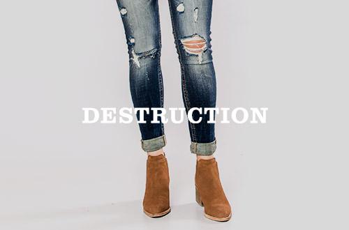 Shop Women's Destructed Denim