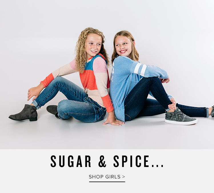 Sugar and Spice - Shop Girl's Clothing - 2 girls wearing Buckle clothing