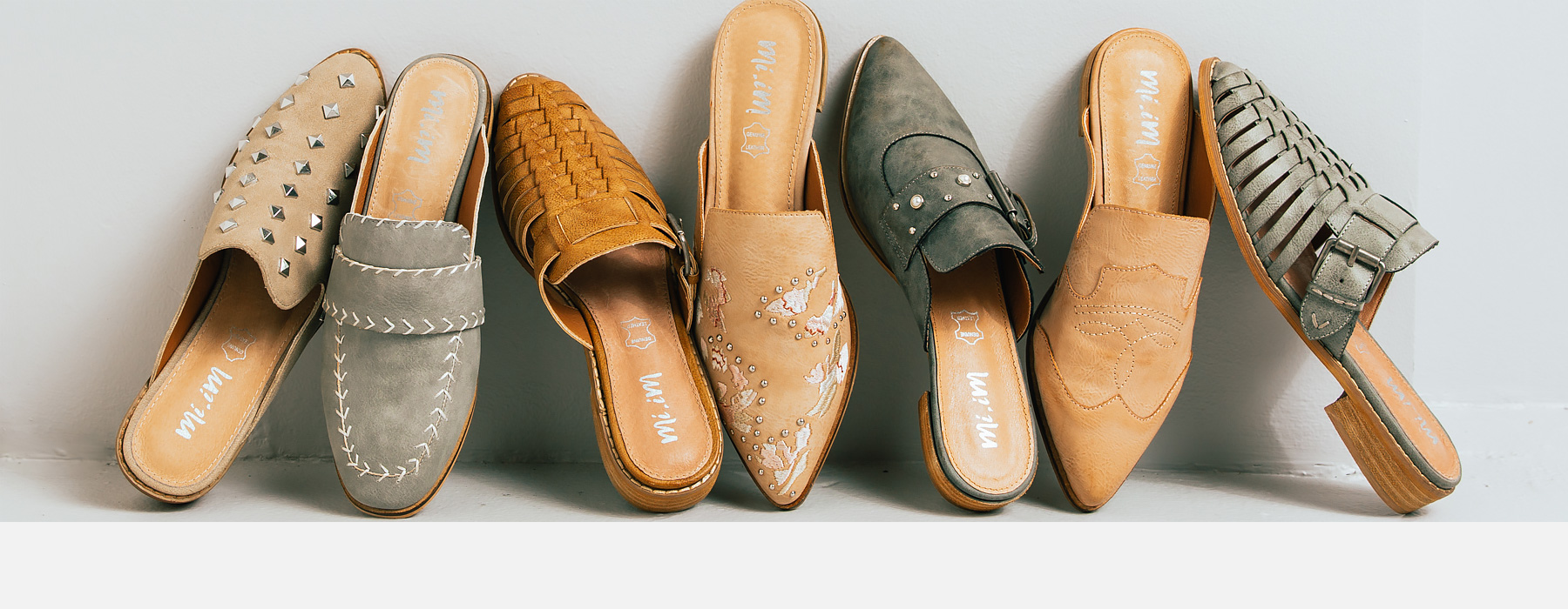Seven different types of women's shoes