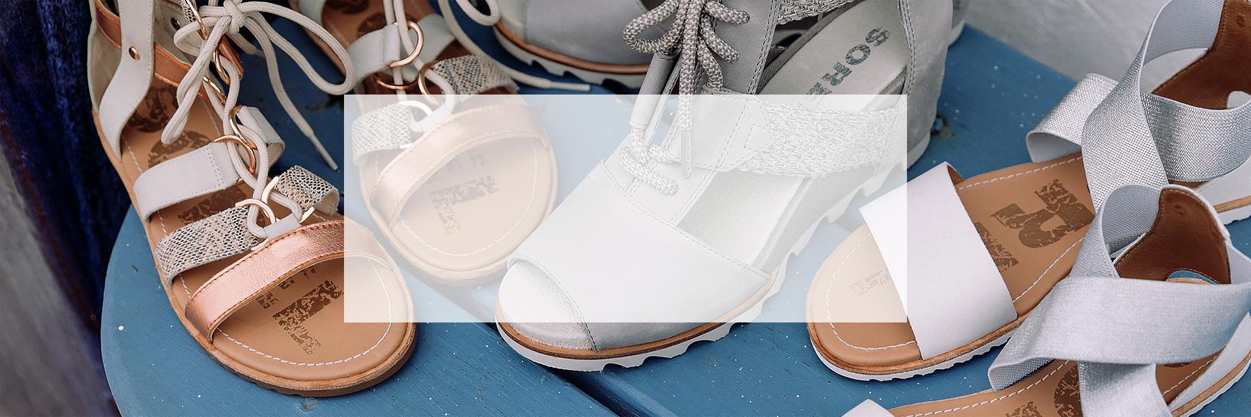 Three pairs of women's sandals